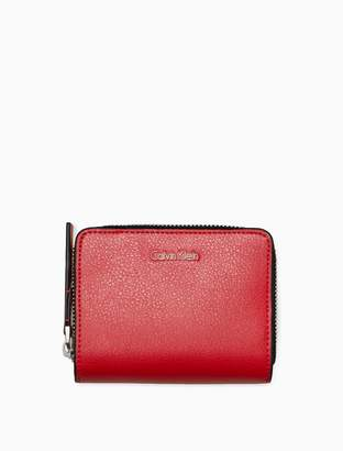 Calvin Klein square medium zip wallet
