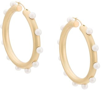 Irene Neuwirth pearl embellished hoop earrings