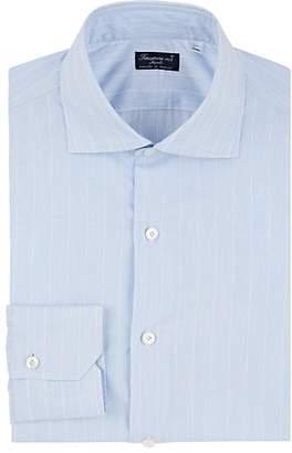 Finamore Men's Pinstriped Cotton Poplin Shirt