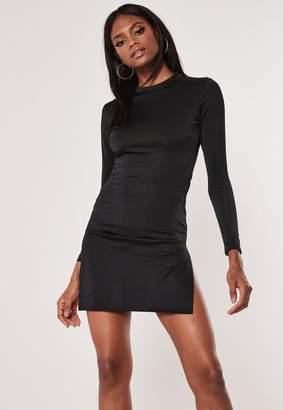 ff67a402b79 Missguided Black Side Split Bodycon Mini Dress