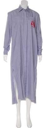 Celine Striped Shirt Dress