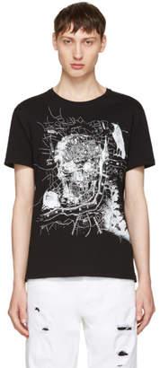 Alexander McQueen Black London Map T-Shirt