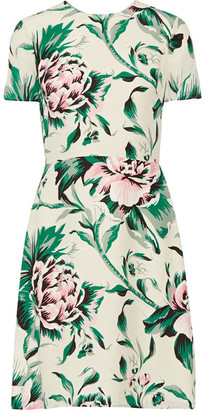 Burberry - Printed Silk-georgette Dress - Green $995 thestylecure.com