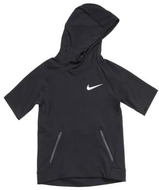 Boy's Nike Dry Hyper Fleece Short Sleeve Hoodie $65 thestylecure.com