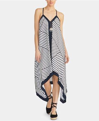 Rachel Roy Maddelena Sleeveless Striped Handkerchief-Hem Dress