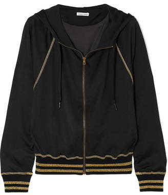 Tomas Maier Campus Metallic Jersey Hooded Top - Black