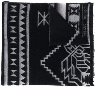 Kenzo gradient-effect logo scarf