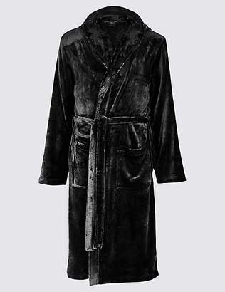 M&S Collection Fleece Dressing Gown with Belt