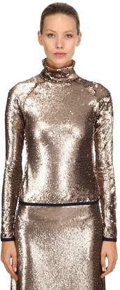 Stella Jean Sequined Long Sleeve Top