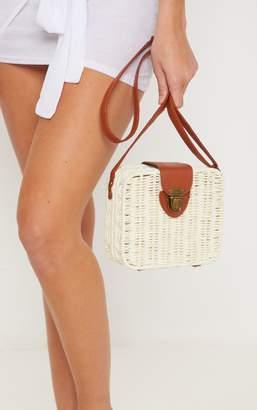 PrettyLittleThing Straw Box Cross Body Bag