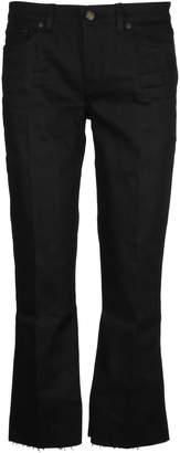 Saint Laurent Bootcut Raw Edge Jeans