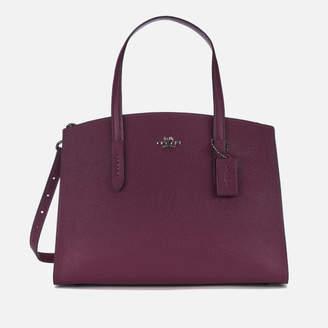Coach Women's Metallic Leather Interior Charlie Carryall Bag - Dark Berry