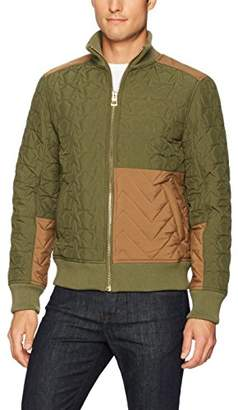 GUESS Men's Halen Quilted Blocked Jacket