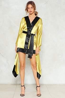 Nasty Gal So Wrapped Up Kimono Dress