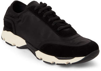 Marni Black Nylon & Suede Color Block Trainer Sneakers