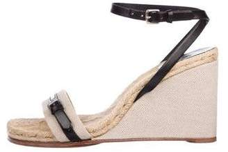 1ecd4223a2 Peep Toe Wedge Ankle Strap - ShopStyle