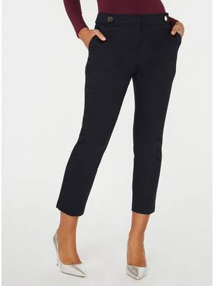 Dorothy Perkins Navy Button Tab Trousers