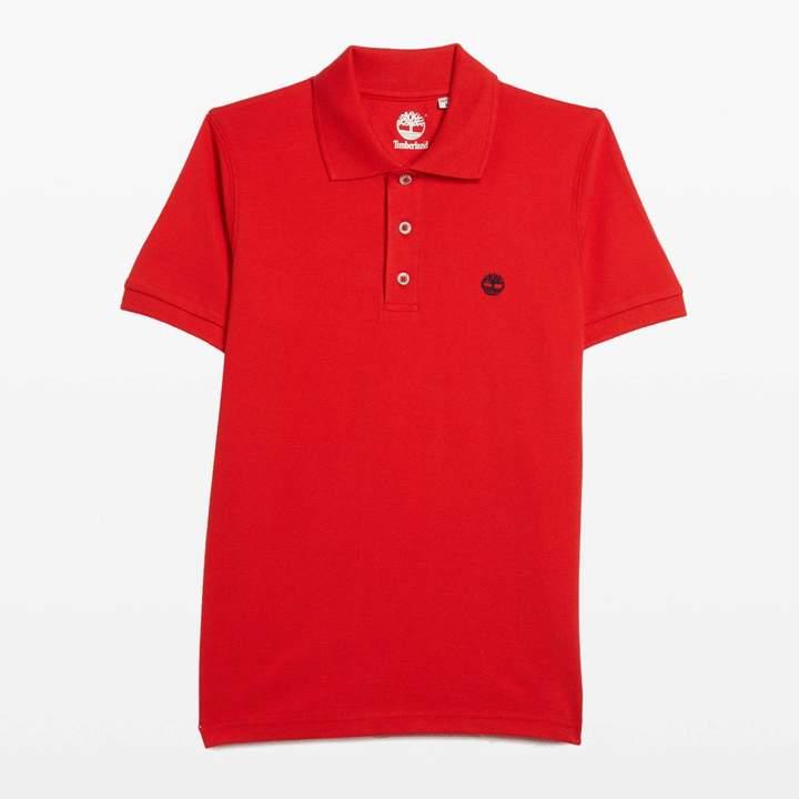 Kurzärmeliges Poloshirt - rot