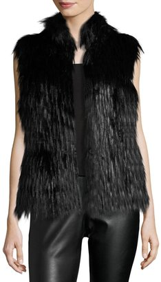 MICHAEL Michael Kors Faux-Fur Vest, Black $199 thestylecure.com