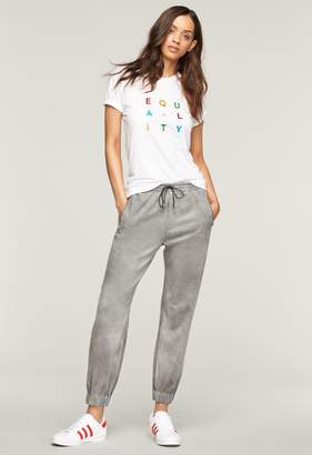 Milly Bonded Faux Suede Jogger Pant