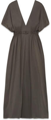 Eres Norma Cotton-jersey Maxi Dress - Dark gray