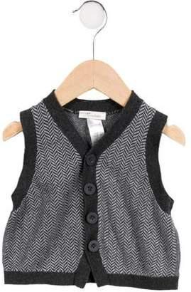 Miniclasix Boys' Herringbone Sweater Vest