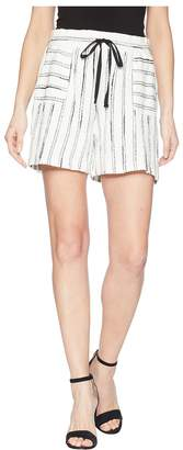 Vince Camuto Nubby Stripe Drawstring Shorts Women's Shorts