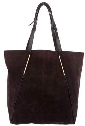 Lanvin Leather-Trimmed Suede Shopper
