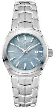 Tag Heuer Link Lady Mother-of-Pearl and Stainless Steel Watch