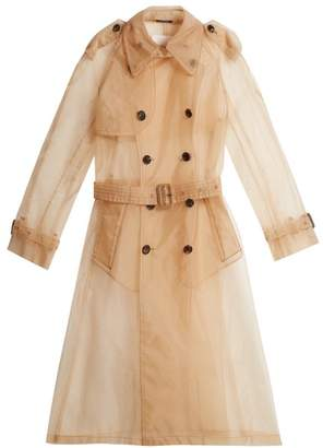 Maison Margiela Organza Trench Coat - Womens - Beige