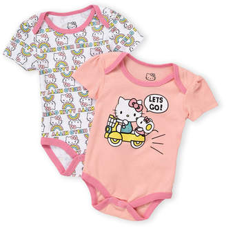 Hello Kitty Newborn Girls) Two-Pack Character Bodysuits