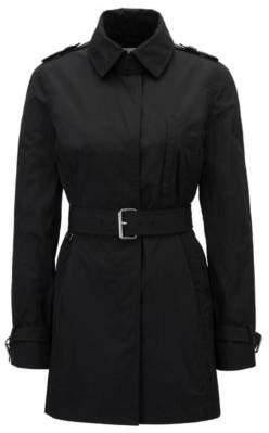 HUGO BOSS Water-Repellent Trench Coat Cirolie 0 Black