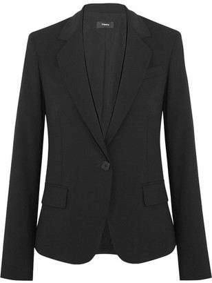 Theory - Gabe Stretch-wool Crepe Blazer - Black $425 thestylecure.com