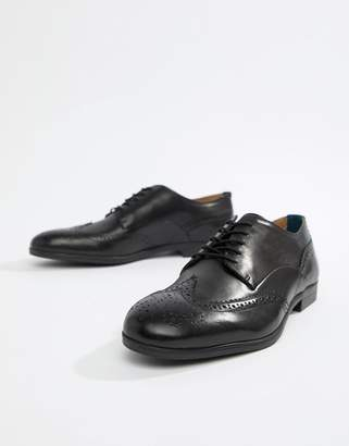 H By Hudson Aylesbury brogues in black leather