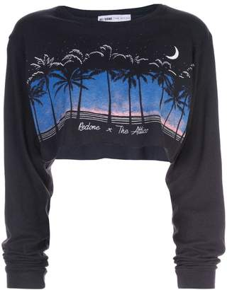 RE/DONE cropped graphic print sweatshirt