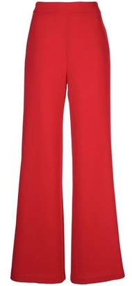 Brandon Maxwell High Waisted Wool Crepe Wide Leg Pants