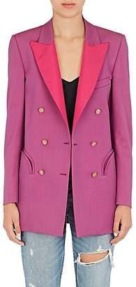 Blazé Milano Women's Everyday Wool Double-Breasted Blazer - Pink Size 38 It