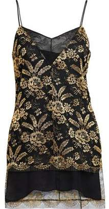 ADAM by Adam Lippes Corded Lace-Paneled Metallic Embroidered Tulle Camisole