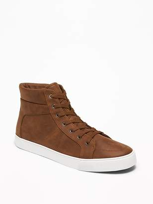 Old Navy Textured Faux-Leather High-Tops for Men
