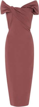 Cushnie et Ochs Off-The-Shoulder Stretch-Crepe Midi Dress