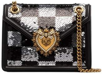 Dolce & Gabbana Devotion sequin-embellished shoulder bag