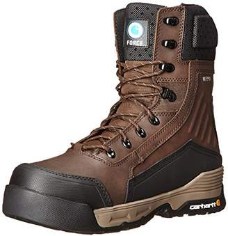 "Carhartt Men's 8"" Force Waterproof Composite Toe Insulated Work Boot with Zipper CMA8359"