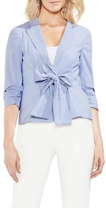 Vince Camuto Tie Front Stripe Jacket