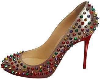 Christian Louboutin Spike Leather Heels