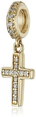 Brilliance+ Chamilia 14K Brilliance Pave' Cross with Swarovski Zirconia Bead Charm