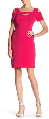 NUE by Shani Cold-Shoulder V-Neck Dress