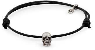 Black Diamond Snake Bones - Skull Bracelet in Oxidized Silver with Eyes