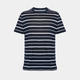 Theory Linen Stripe Essential Tee