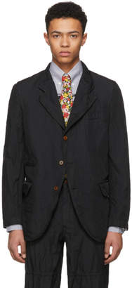 Comme des Garcons Homme Deux Black Twill Garment-Dyed Blazer