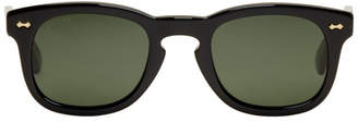 Gucci Black Opulent Luxury Square Sunglasses